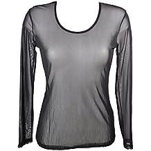 Miss Rouge  T-Shirt, Haut en Voile Transparente b333f3ae7ac9