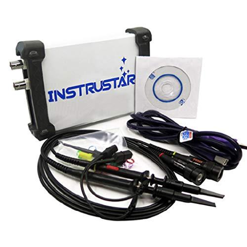 Huyiko Digitales Oszilloskop, digital, USB, 3-in-1, multifunktional, Band auf PC, 20 m, 2 Kanäle, mit der Funktion Spektrumanalyse und Datenrekorder ISDS205A