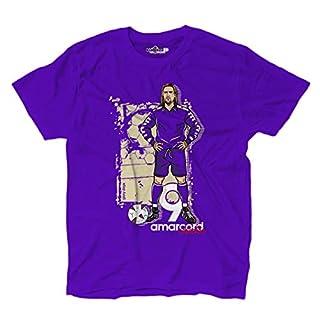 KiarenzaFD T-Shirt Football Amarcord Batigol 9 Glory 1991-2000 Vintage Purple, KTS02608-S-Purple, Purple, S