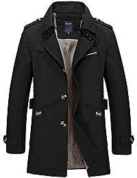 Ouguan® Veste Classique Homme Manteaux Décontracté Trench Coat Court  Blouson Jacket Slim Fit ... 83b2804c2e1