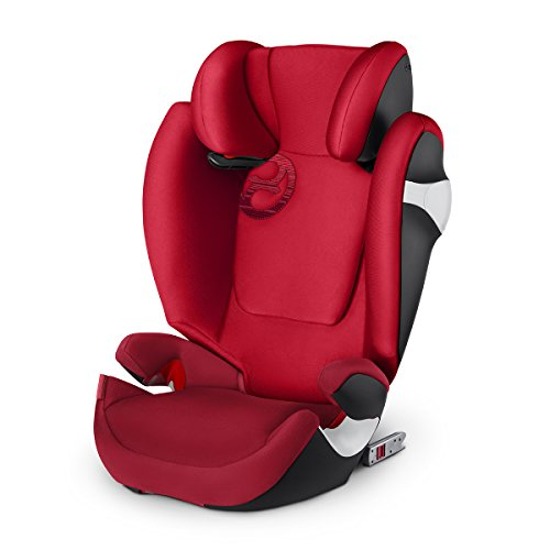 CYBEX Solution M - Fix Siège Auto Groupe 2/3 - Rebel Red - (15-36 kg/3-12 ans)