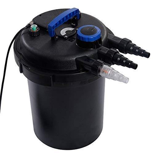 COSTWAY Druckfilter Druckteichfilter 10000 L/H Teich 13W UVC Wasserfilter Teichfilter
