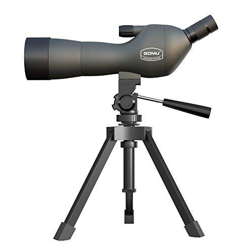 ECOOPRO 20–60 x 60AE Spektiv, 45 Grad abgewinkelt Okular, wasserdicht und gegen Beschlag geschützt, mit Stativ für Sport-, Optik Zoom 36–19 M/1000 M (Tief Grün)