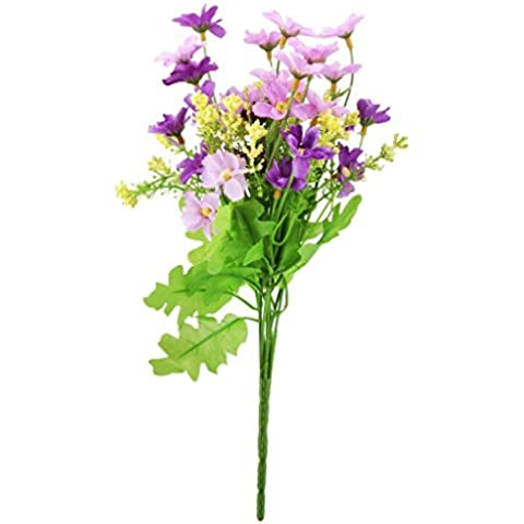 omong ramo de violeta flores artificiales simulación Jump orquídea ramo decoración, diseño de crisantemo