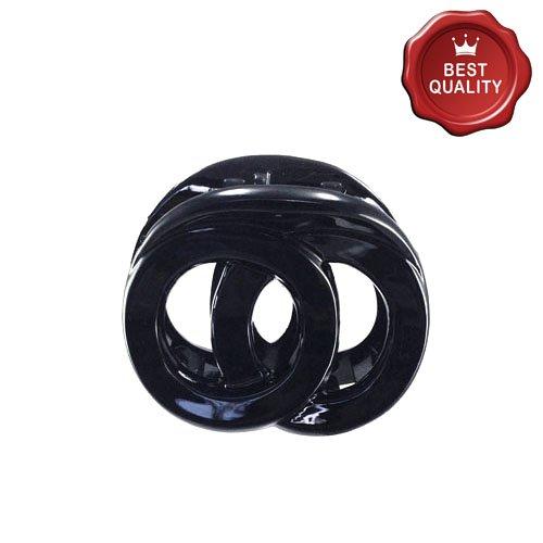 K338 – 001 – Pince pour cheveux Anneaux Croisés cm 3 couleur noir – Accessoires Cheveux Pinces
