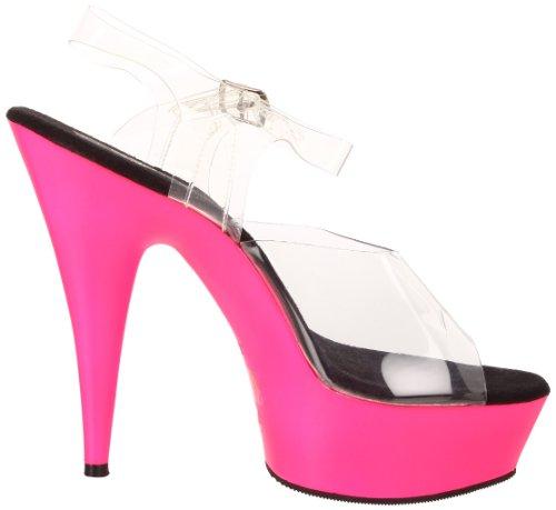 Planalto transparente Neon Pleaser Pink clr 608uv Transparente Damen Deleite txqtUASwH