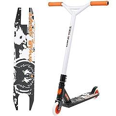 Idea Regalo - VOKUL TG-6061 - Scooter monopattino leggero, in alluminio resistente e ruote in uretano di alta qualità (V-Orange&Bianco)