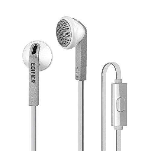 Edifier P190 Premium Earbuds Headset Hi-Fi Klassisches Earbud Design Kopfhörer Bequeme Passform Ohrhörer Mit Mikrofon Weiß -