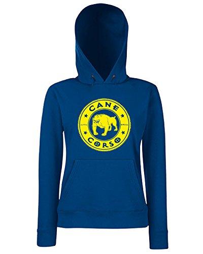 T-Shirtshock - Sweats a capuche Femme FUN0942 cane corso kids baseball jersey Bleu Navy