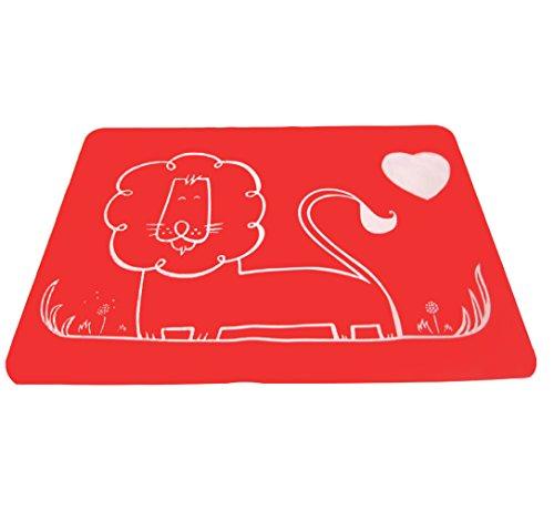 Kuke Dessous/Tapis/Set de Table Antidérapant et Réfractaire, en Silicone Alimentaire, avec une grande surface, Souple et Pliant, idéal pour votre bébé qui manger à la table.