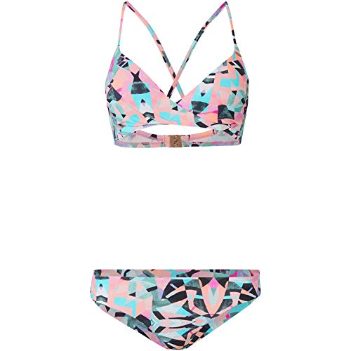 O'Neill Damen PW Baay Maoi Mix Bikini Set, Weiß All Over Print mit Grün, 38 - Nylon Print Höschen