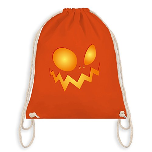 Halloween - Kürbisgesicht groß Pumpkin - Unisize - Orange - WM110 - Turnbeutel & Gym Bag