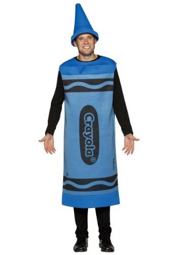 Crayola zeichnet - Erwachsene männlich Kostüm - (Kostüm Crayola Crayon Blau)