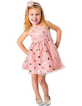 Baby Kleider Mädchen Kleinkind Longra Kleinkind Baby Prinzessin Rock Kleid mit Punkten Mädchen ärmellose Sommerkleider...