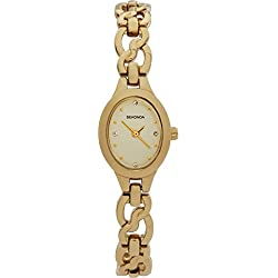 Sekonda Ladies Oval Gold Watch with Champagne and Crystal Dial in Gift Box