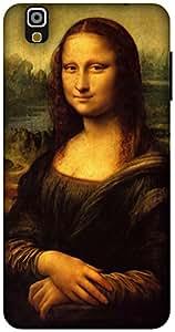 The Racoon Grip Mona Lisa - Da Vinci hard plastic printed back case / cover for Yu Yureka