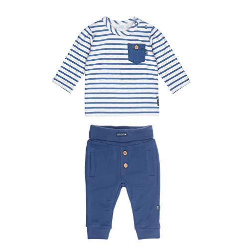 Feetje Baby-Jungen Zweiteiliger Sweat-Anzug Wild and Free, blau-grau Melange, 62 - Jungen Anzüge Sweat