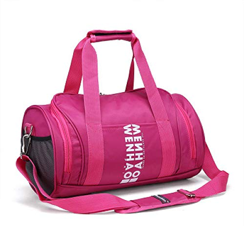 Qsfdhifdr Borse Sport Borse fitness Borse allenamento Borse a spalla cilindriche Borse yoga@Rosa rossa senza scarpe_L