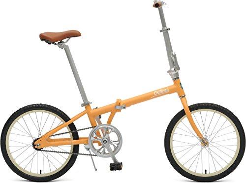Critical Cycles Uni Judd Single-Speed with Coaster Brake Folding Bike, Matte Saffron, One Size