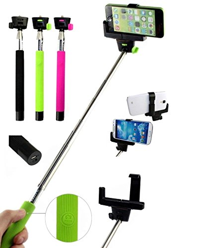 Premium Design SAMSUNG Galaxy Grand 2 Compatible Bluetooth Selfie Stick with inbuilt battery and Shutter Button ( Random Colour)  available at amazon for Rs.247