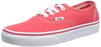 Vans Authentic Shoes - Hibiscus/True White UK 3