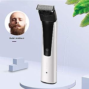 KEMEI Electric Shaver Men's Bald Men's Shaver Beard Trimmer Shaver Electric Shaver Rechargeable