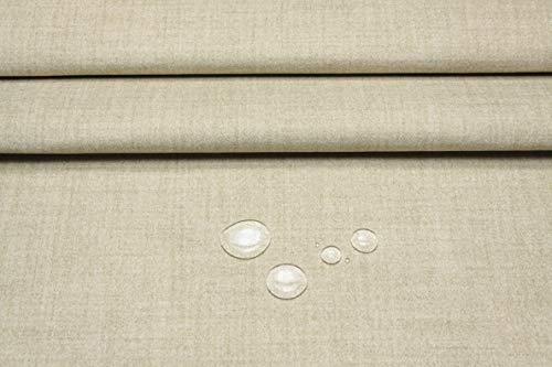 Escalano Möbelstoff Wasserfest Bezugsstoff Polsterstoff für Stuhl Eckbank Sofa Hussen Stoff (27 Farben) (Mittelbeige meliert)