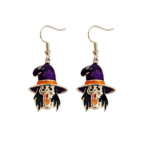 Xdytxdks Ohrringe Hypoallergen Fashion Halloween Cartoon Lustige Öl Drop Hexe Persönlichkeit Ohrringe