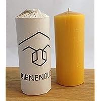 2 Stück Kerzen, 15 x 6 cm, Stumpenform, aus 100% Bienenwachs, handgemacht, direkt vom Imker aus Deutschland, Bayern, von…