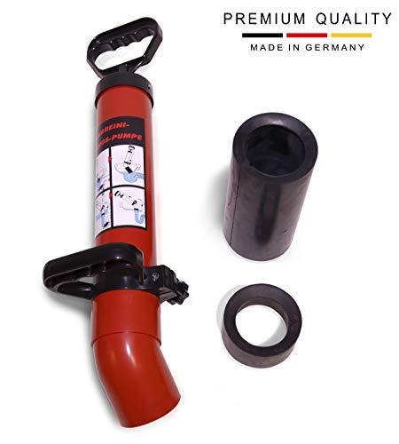 PELMOS Hochdruck Abflussreiniger I Made in Germany I hochwertige Rohrreinigungspumpe I zur schnellen und effektiven Rohrreinigung I Inkl. 2 Adapter