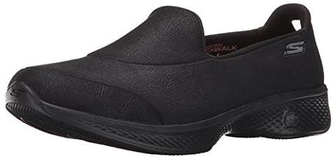 Skechers Women Go Walk 4-Inspire Low-Top Sneakers, Black (Bbk), 3 UK 36 EU