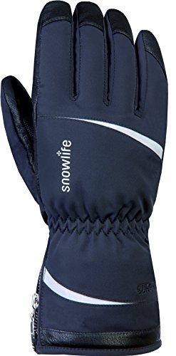 Snowlife Skihandschuhe Snowboardhandschuhe Damen extra warm mit GORE-TEX Membrane, PRIMALOFT Füllung und Soft Shell Prima GTX Glove, schwarz/silber L/S