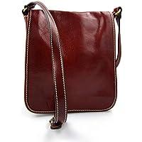 292c61ea24ac Sac cuir d èpaule rouge sac postier sac en cuir homme femme bandoulière sac  de