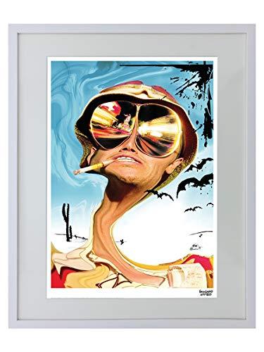 Fear And Loathing In Las Vegas Glasses Limitierter Gerahmter Kunstdruck 40x50cm