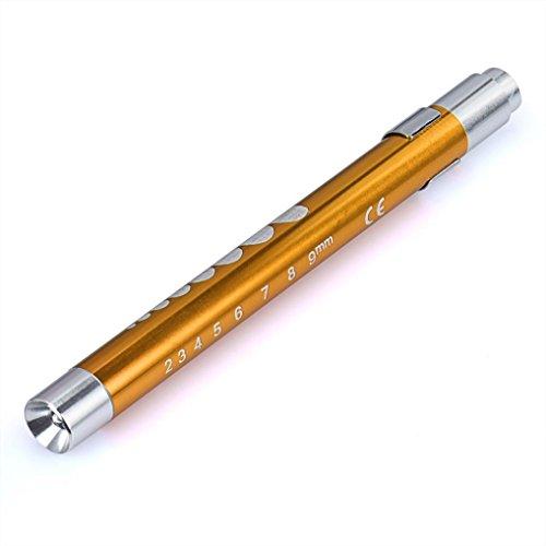 Preisvergleich Produktbild Holeider Taschenlampe Arzt Krankenschwester Notfall Medizinisch Stift Licht Lampe Gold