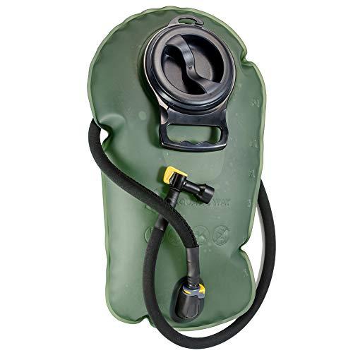 Aquatic Way Hydration Blase Wasserbehälter 3 Liter 3L für Radfahren Camping Wanderrucksack. Nicht giftig, einfache Reinigung, große Öffnung, schnell lösbarer Isolationsschlauch & Sperrventil