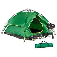 relaxdays Campingzelt, für 3-4 Personen, Quick-up, 2in1-Funktion, H x B x T: 200 x 200 x 115cm, Verschiedene Farben