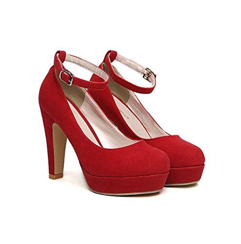GS~LY Cadeau de fête des mères Imperméable avec quatre saisons Chaussures unique High heels Blue
