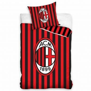 AC Milan letto singolo set copripiumino con federa