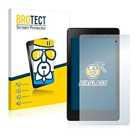 BROTECT AirGlass Protection Verre Flexible pour Asus Nexus 7 Tablet 2 (2013) Film Vitre Protection Ecran Transparence - Extra Résistant, Ultra-Léger, Clair