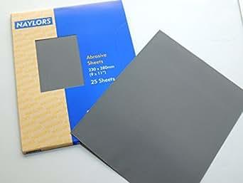 12 x Papier de verre en Silicone et carbure, grains mixtes: 100/120/180/240 360 320 280 400 600 800 1000 1200 nettoyage pour ponçage de finition