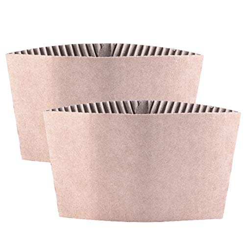 NO.1 COFFEE & TEA PRODUCTS KINDPACK PROTECTIVE CORRUGATED COFFEE CUP SLEEVES FOR 12OZ 16 OZ 22OZ 24OZ HOT CUP SLEEVES, 500 COUNT OF CUP HOLDER SLEEVES BEST BUY REVIEWS UK