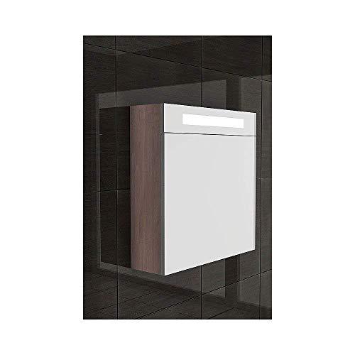Armario con espejo con iluminación/S de 60/baño muebles/marrón/cuarto de baño/baño/TOP Oferta Especial/Diseño Espejo/
