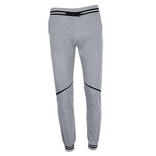 non-brand Sharplace Pantalones de Raya Chándal Bottom Lápiz Mujeres Adelgazante Verano Apariencia Atractiva Deporte Yoga - gris, L