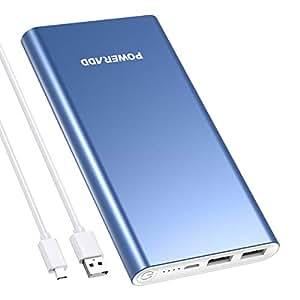 POWERADD Pilot 2GS Batterie Externe pour iPhone avec Deux Sortie 3.1A Jolie Couleur Chargeur Portable 10000mAh - Bleu