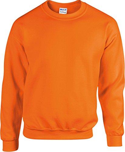 Gildan Sweatshirt Heavy Blend 18000, Farbe:Safety Orange;Größe:XL (Pullover Gildan Sweatshirt)