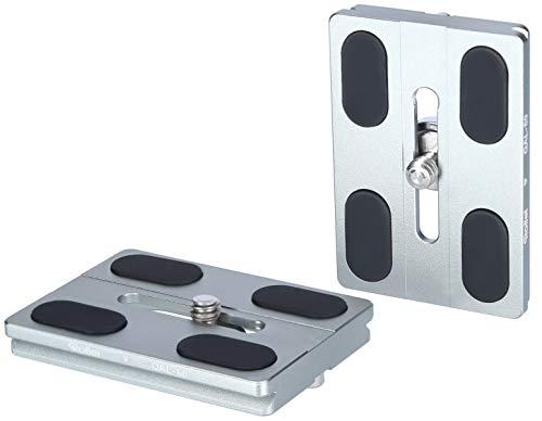 Rollei Schnellwechselplatte I 2 Stück I Metallic Grün I Arca-Swiss kompatibel I Passend zu Lion Rock 25