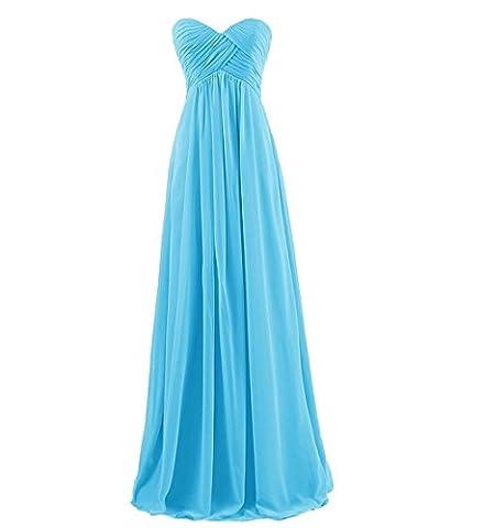 Jzlian Women's Sweetheart Bridesmaid Long Evening Gown Maxi