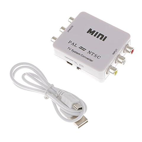 MagiDeal 1pcs Mini Convertisseur PAL NTSC Bidirectionnel De Système De TV Avec USB Câble Accessoires Portable Durable