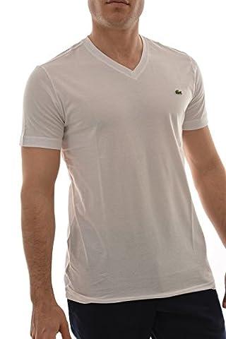 2 tee shirt lacoste th6604 blanc